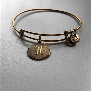 "Alex and Ani bracelet ""K"""